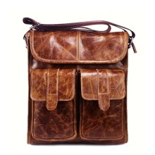 Genuine Leather Men bags Fashion Brand Designer Handbags Shoulder Vintage Retro Cow Bags Men Messenger Bags Briefcase NB069