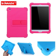 Silicone case for ipad mini 3 / mini 2  cover soft rubber tablet case with moive stand coque para for Apple ipad mini 7.9 inch цена 2017
