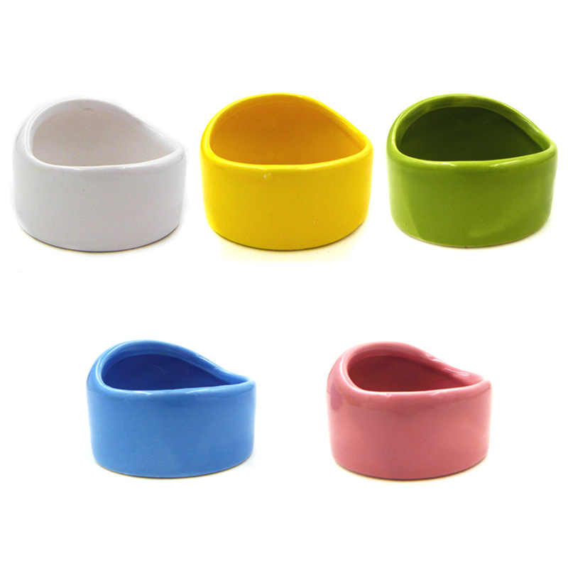 Полу-Купольная керамическая чаша маленький питомец, чтобы предотвратить переворачивание и обрезание на чаше для кормления хомяка Шиншилла Круглая Чаша