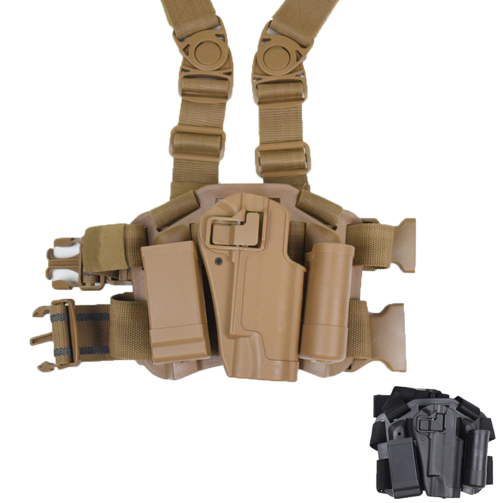 Women's Shoes Tactical Lv3 Compact Rh Drop Leg Holster With Magazine Light Pouch For Gl 17 19 22 23 31 32