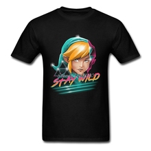 The Legend Of Zelda Stay Wild T Shirt Cotton Crewneck Custom Short Sleeve  T-shirts Top Crossfit Big Size Men's Shirts