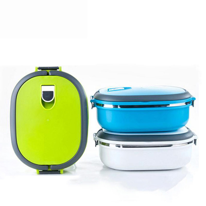 Blue box food lunch straw wheat bento boxes dinnerware for Daftar harga kitchen set stainless steel