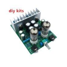 Diy kits HIFI 6J1 tube amplifier Headphones amplifiers LM1875T power amplifier 30W  free shipping