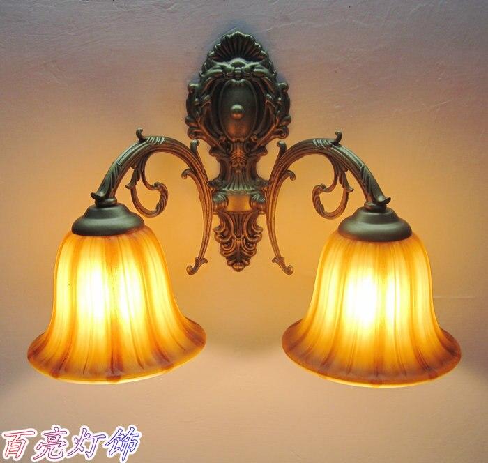 Бесплатная доставка 2 шт. EMS мода двойной слайдер бра свет кровать – освещение деревенский антикварная лампа проходу фары настенные светильн…