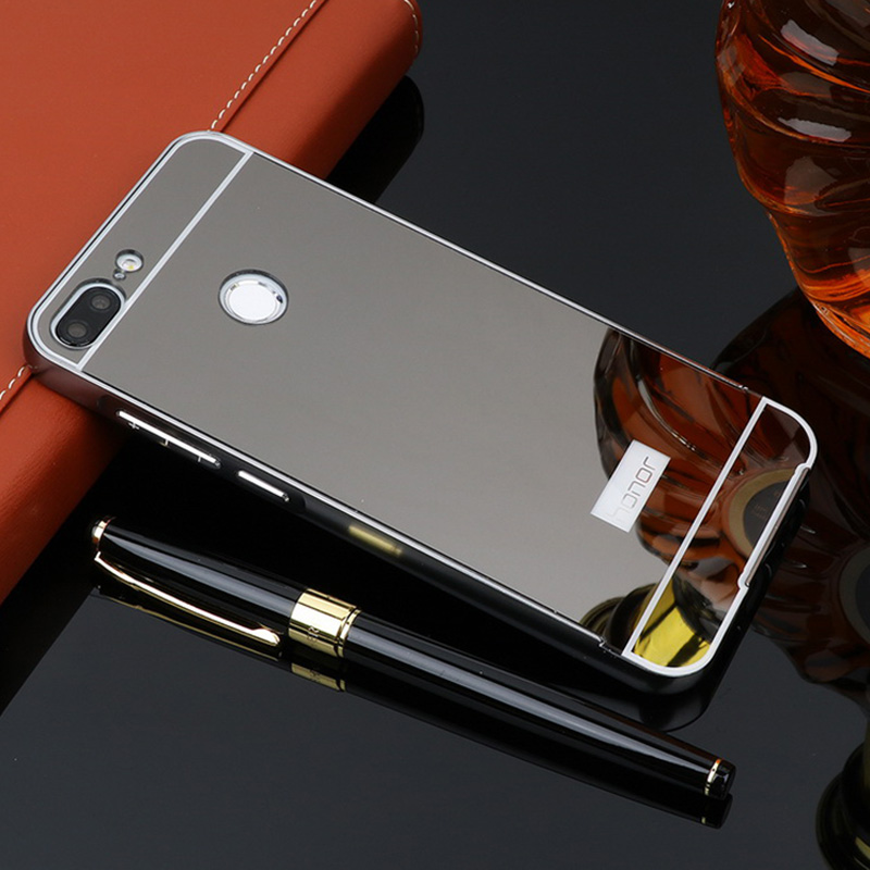 For Huawei Honor 9 Lite Case Metal Aluminum Metal Bumper + Mirror Acrylic Plastic Cover Case For Huawei Honor 9 Lite Case 5.65""