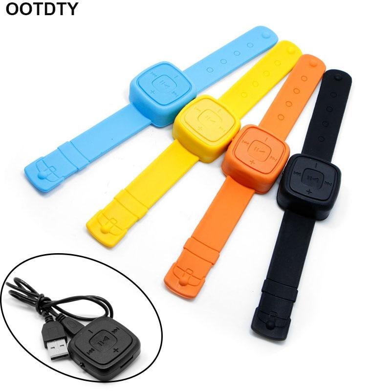 Wrist Watch USB MP3 Music Player Support 32GB Micro SD TF Card+Earphone