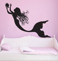 Under The Sea Mermaid Girl Nursery Room Wall Decal Art Home Decor Wall Stickers Vinyl Wall Poster Mural
