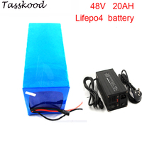 No taxes Lifepo4 battery 48v 20ah lifepo4 lithium battery with 2000cycles 48v 20ah motorcycle battery+5A charger