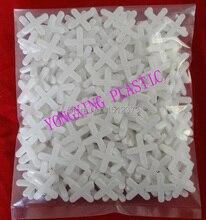 300pcs/bag plastic cross/ tice spacer 5.0white color locate the ceramic tile