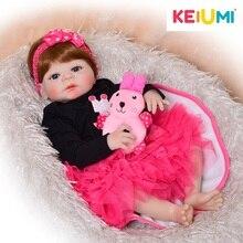 Принцесса 23′ Кукла Reborn полное Силиконовое боди коричневые волосы реалистичные куклы-реборн Друзья детей Детские игрушки девочка рождественские подарки