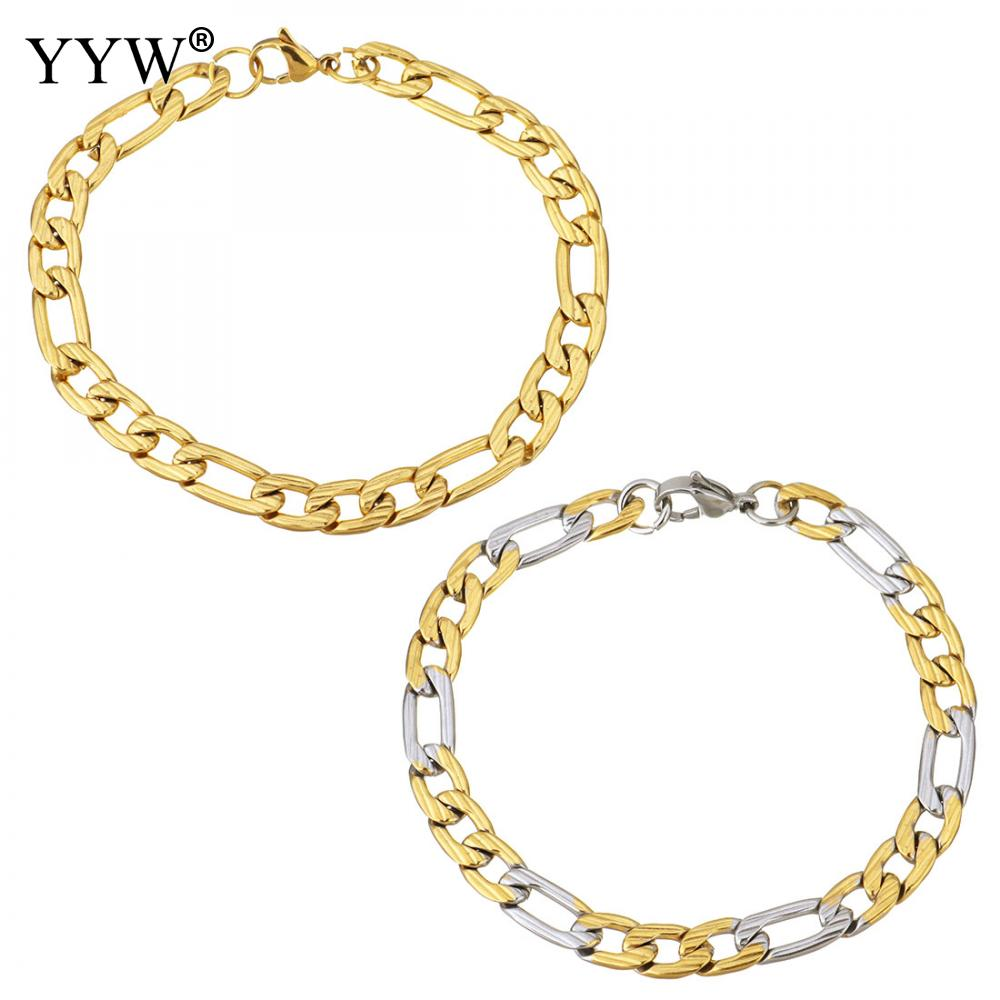 Stainless Steel Jewelry Bracelet plated Unisex chain more colors for choice 12x7mm 16x7mm Sold Per Approx 8 Inch Strand