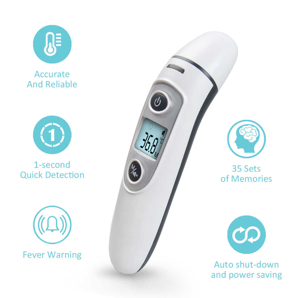 Baby Digital Thermometer Infrared Non-Contact Body Measurement  IR LCD Kids Forehead Ear Mom Baby Care Fever Termometro Hot Sell