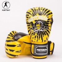2017 Phong Cách Mới 10 OZ 12 OZ Pretorian Đấm Bốc Gloves Pair Muay Thai MMA Tập Thể Dục Phòng Tập Thể Dục Jujitsu PU Leather Chuyên Nghiệp đào tạo Găng Tay