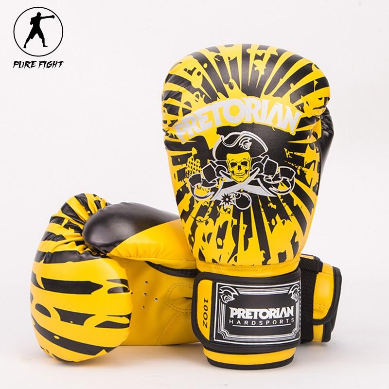 2017 neue Stil 10 UNZE 12 UNZE Pretorian Paar Boxhandschuhe Muay Thai MMA Fitness Gym Jujitsu Pu-leder Professionelle Trainingshandschuhe