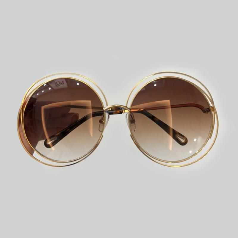 High Quality Vintage Women's Vintage Round Sunglasses 2019 Brand Designer Oculos De Sol Feminino Fashion Sun Glasses with Pearl