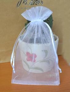 """Image 2 - Bolsa con cordón de Organza, 40x60cm (15 6/8 """"x23 4/8""""), paquete de 50 bolsas de almacenamiento de envases de regalo más grandes"""