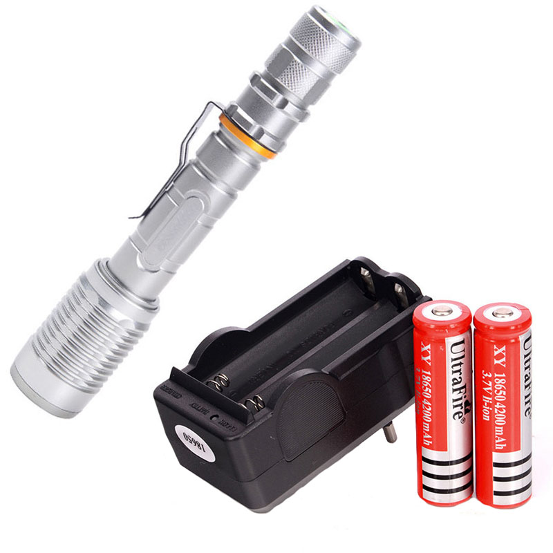 Super Bright NEW Waterproof 3800 lumen CREE XML T6 LED Flashlight Torch Tactical 5 Mode Zoomable Flashlight Use 2x18650 3 Color 2x18650 powerful led flashlight 5000 lumen super bright zoomable focus led torch cree xml t6 led tactical outdoor lamp light
