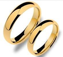 4mm envío libre y gratuito grabado reparto estupendo tamaño 4-15 chapado en oro anillo tungsten anillos de boda