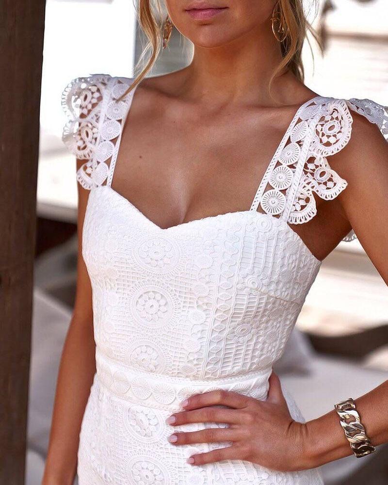 Robe blanche d'été