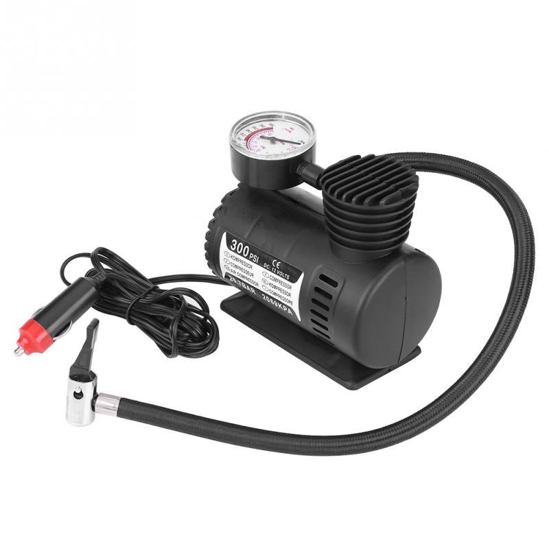 12V 300 PSI Portable Emergency Mini Air Compressor Electric Car/Motorcycle Tire Infaltor Pump Car Styling