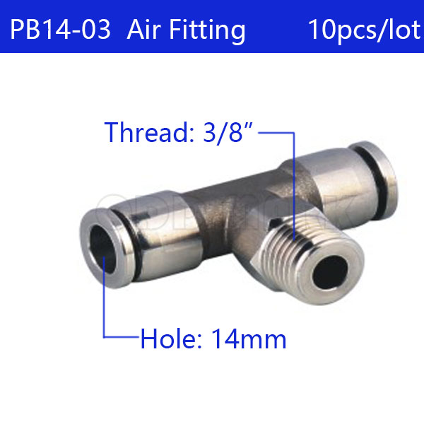 Free shipping 10pcs/lot 14mm to 3/8 PB14-03,304 Stainless Steel Tee Male Connector Free shipping 10pcs/lot 14mm to 3/8 PB14-03,304 Stainless Steel Tee Male Connector