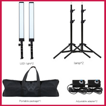 GSKAIWEN 180 LED Light Studio de fotografía Kit de iluminación LED Luz ajustable con soporte de luz Trípode Photographic Video Fill Ligh