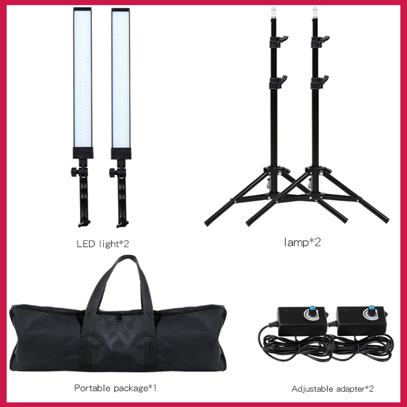 GSKAIWEN 180 LED Light Photography Studio LED Lighting Kit Adjustable Light with Light Stand Tripod Photographic Video Fill Ligh