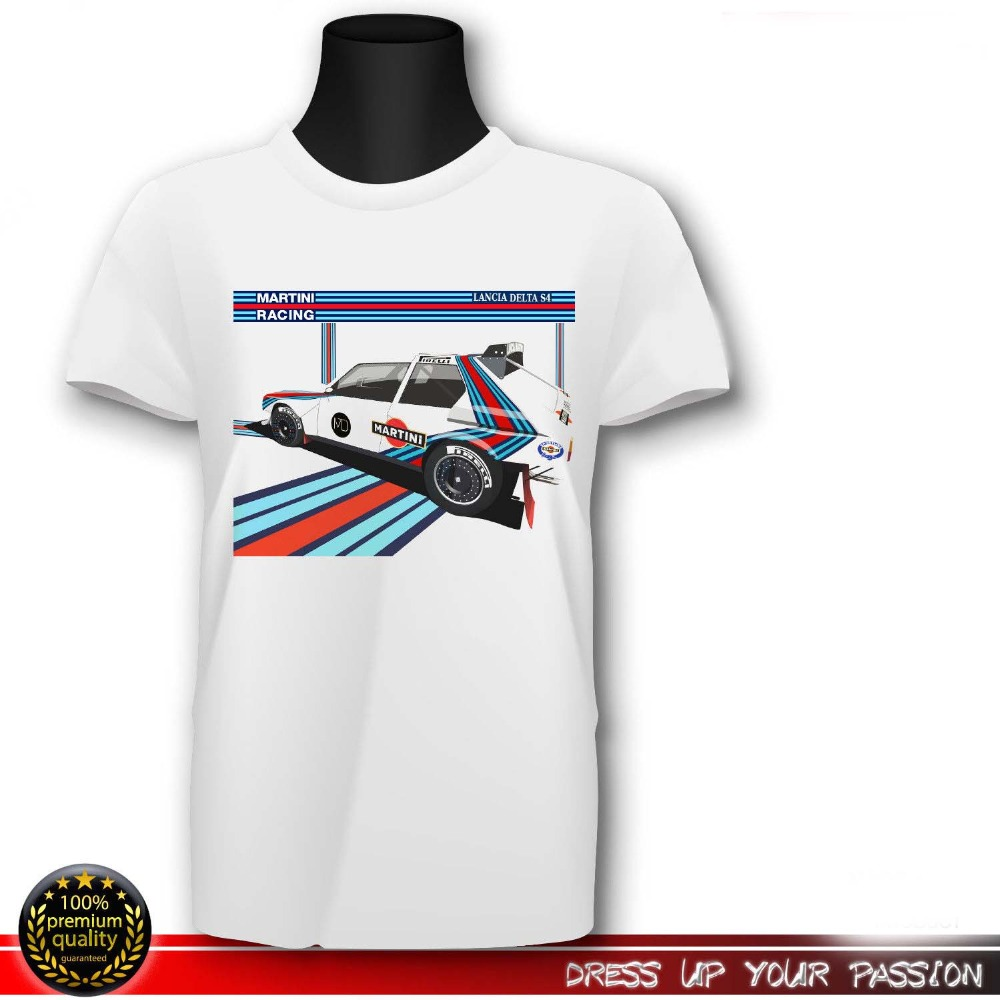 Lancia Abarth 037 t shirt Martini rally retro vintage group b mens top monte car
