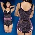 Mujeres body shaper full body corsé que adelgaza los monos de encaje delgado underwear seamless fajas faja control de abdomen y cintura