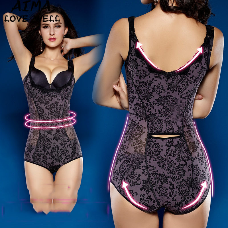 98f42dea3 Women Body Shaper Full Body Corset Slimming Bodysuits Lace Thin ...
