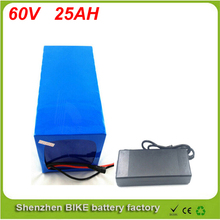60V 25AH Lithium Battery Electric Bicycle Scooter 60V 500W 1000W 3000W Battery Lithium-ion ebike battery pack For Samsung cell