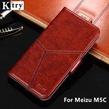 K'try кошелек чехол для Meizu M5C из искусственной кожи Роскошные откидную крышку магнитного модные Чехол для Meizu M5C M5 c 5.0 дюймов