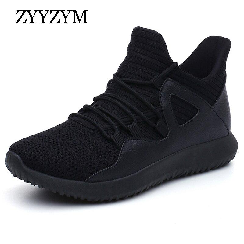 9e3cae50 ZYYZYM buty mężczyźni Sneakers 2019 wiosna jesień wygodne oddychające  Lace-UP Unisex Walking buty w stylu casual mężczyźni duży rozmiar 39- 48