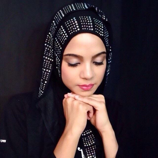 Musulmán hijab bufanda jersey hijabs bufandas chal de algodón hermoso diamante rhinestone elegante 12 colores