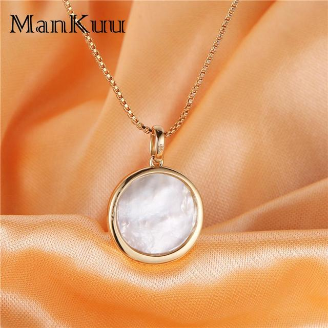 Natural Pearl Necklaces Decorate South Africa Diamond 18K Gold Necklace 18mm Round Freshwater Pearl Necklaces For Women 5