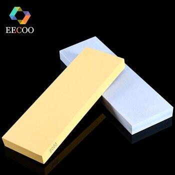 EECOO Professional Kitchen Knife Sharpener White Corundum Whetstone Water Honing Stone Oilstone Grinder Sharpening System Stone