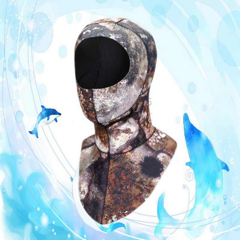 3 مللي متر الغوص هود مع الكتف Spearfishing قبعة الشتاء غص قبعة دافئة تصفح قبعة الغوص قبعات السباحة