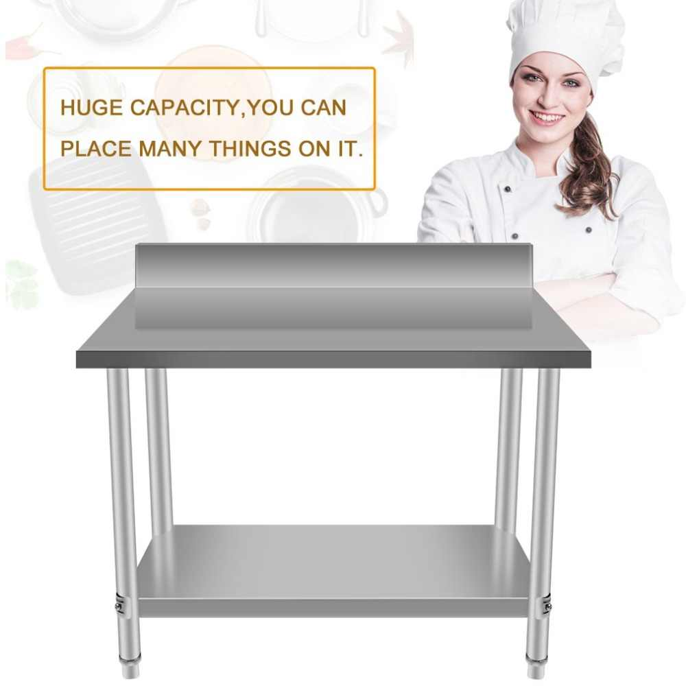 Stupendous Top Quality Stable Large Stainless Steel Two Layers Kitchen Work Bench Commercial Catering Stand Table Food Making Helper Theyellowbook Wood Chair Design Ideas Theyellowbookinfo