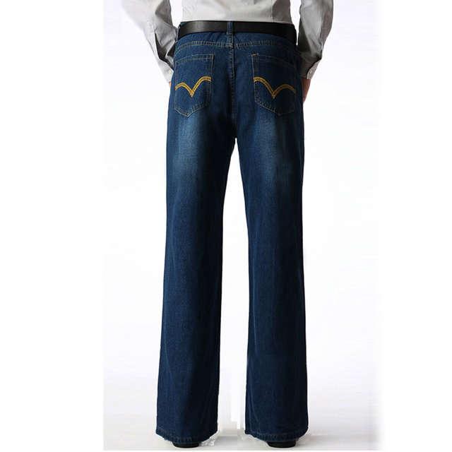 00908c9f0 placeholder Marca Mens Boot Cut Perna Queimado Queimado Calça Jeans Solta  Cintura Alta Designer masculino Clássico Denim