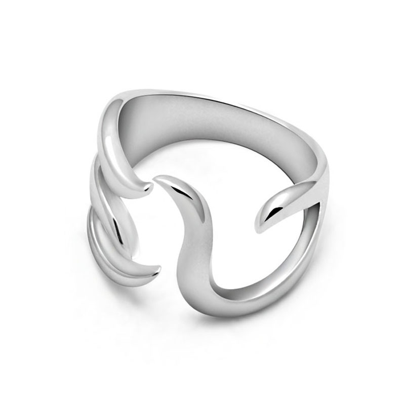 Fashion personality sterling silver ring. Women's ring size can be adjusted. Girl is solid 925 silver ring. Wholesale jewelery