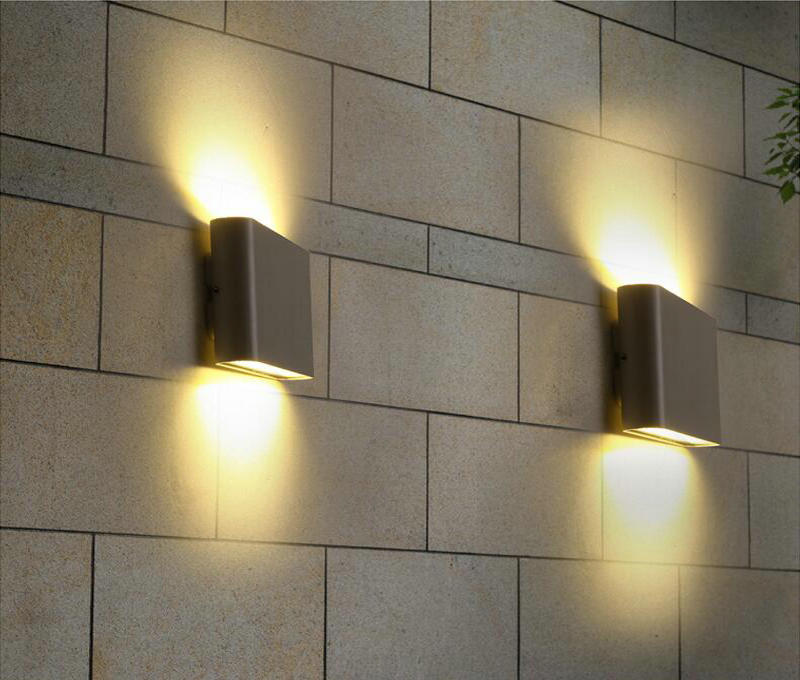 IP68 Outdoor/Indoor 6W LED Wall Lamps Square Waterproof Sconce Up And Down Side Lighting