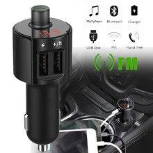 Автомобильный Bluetooth fm-передатчик Беспроводной Громкая связь приемник авто светодиодный MP3-плеер 2.5A двойной USB быстрый автомобиль аксессуары