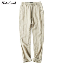 2018 New Fashion Summer Men's Thin Section Linen Pants Male Large Size Casual Pants Loose Straight Elastic Waist Men's Trousers