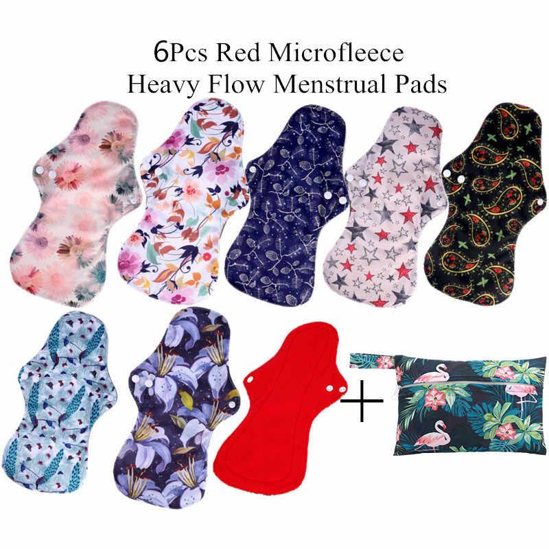 Reusable Cloth Pads Cloth Menstrual Pad Cloth Sanitary Pad Period Pad Cloth Pad 6 Regular Flow Wild Flower Reusable Pad