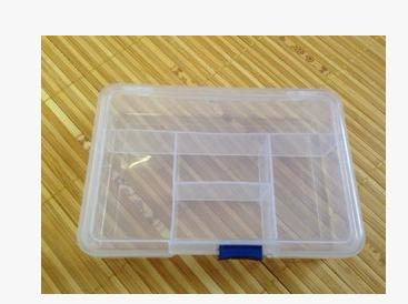 Creative glide buckle 5 grid transparent plastic boxes electronic components small jewelry store content storage box 10pcs/lot