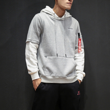 M~5XL! New 2017 Men's clothing PLUS SIZE Fake two piece head hoodie coat Hoody Students Japanese couple singer costumes