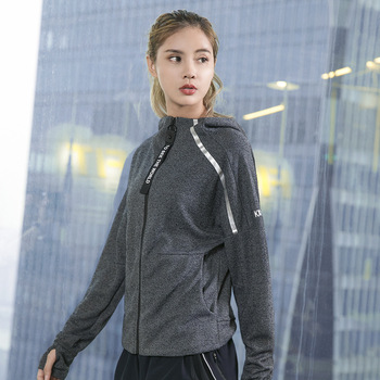 JINXIUSHIRT kurtka sportowa kobiety odzież sportowa luźna rozrywka kurtka do jogi odzież do ćwiczeń na siłownię bieganie dres odzież sportowa WT535 tanie i dobre opinie WOMEN Pasuje prawda na wymiar weź swój normalny rozmiar Oddychające