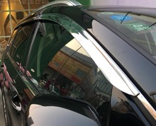 ABS Chrome plastic Window Visor Vent Shades Sun Rain Guard car accessories for Ford Edge 2015 2016 2017 2018 car styling