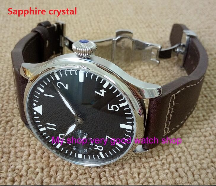 Butterfly buckle Sapphire crystal2017 new fashion 44mm PARNIS pilot 6497 Mechanical Hand Wind movement mens watch xRNM13AButterfly buckle Sapphire crystal2017 new fashion 44mm PARNIS pilot 6497 Mechanical Hand Wind movement mens watch xRNM13A