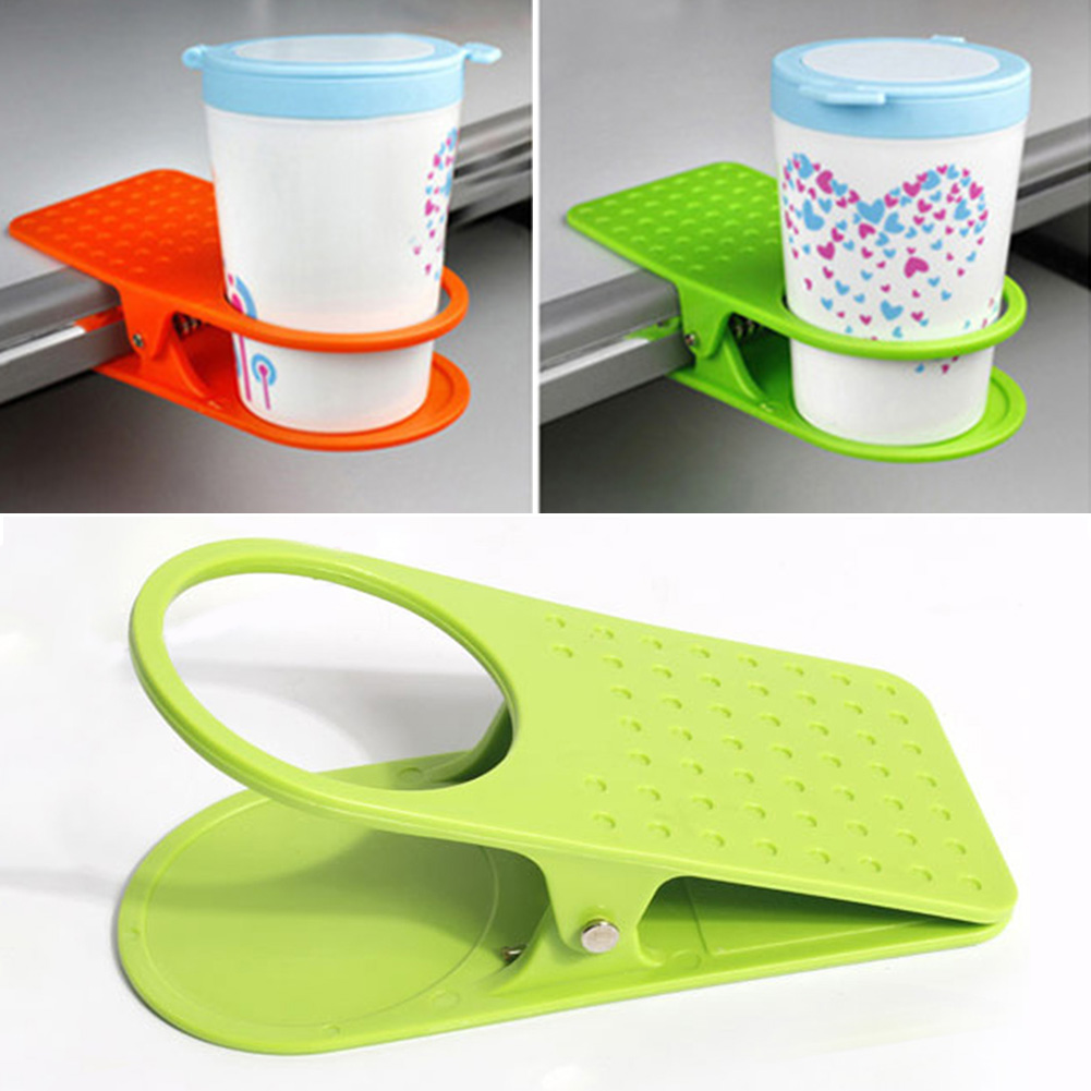 Amazing Us 1 84 15 Off New Portable 1Pc Abs Plastic Table Drink Cup Clip Coffee Mug Desk Lap Holder For Office Home In Cup Tumbler Holders From Home Download Free Architecture Designs Rallybritishbridgeorg